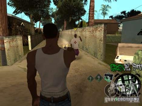 C-HUD Groove Street для GTA San Andreas седьмой скриншот