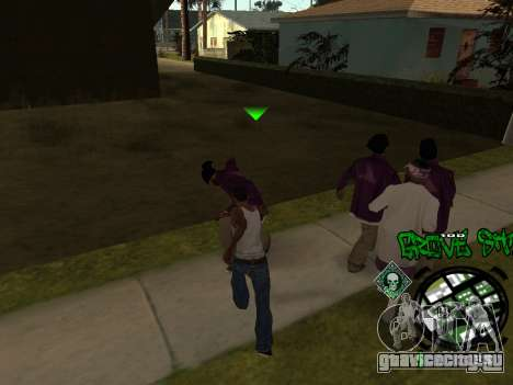 C-HUD Groove Street для GTA San Andreas четвёртый скриншот