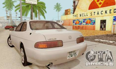 Lexus SC300 v1.01 [ImVehFT] для GTA San Andreas вид сзади слева