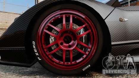 Pagani Zonda C12 S Roadster 2001 PJ3 для GTA 4 вид сзади