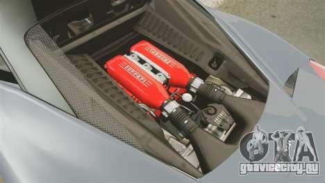 Ferrari 458 Italia для GTA 4 вид изнутри