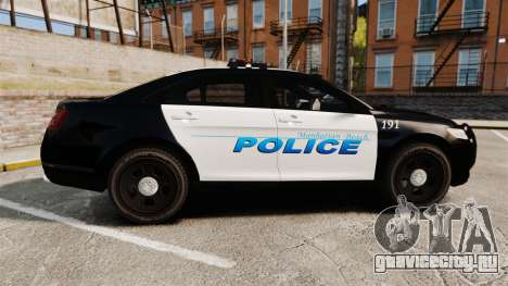 Ford Taurus Police Interceptor 2013 [ELS] для GTA 4 вид слева