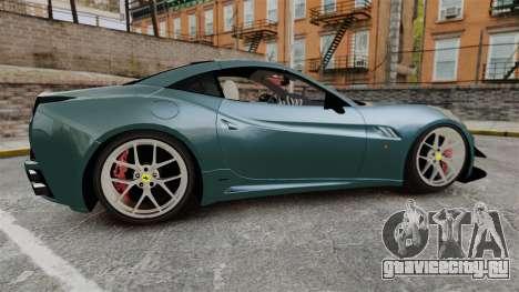 Ferrari California для GTA 4 вид слева