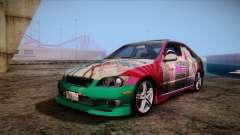 Toyota Altezza Sakura Miku Itasha для GTA San Andreas