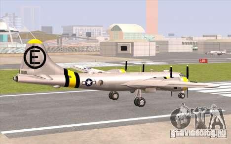 B-29A Superfortress для GTA San Andreas вид слева