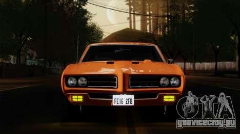 Pontiac GTO The Judge Hardtop Coupe 1969 для GTA San Andreas вид сзади
