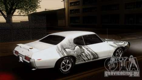 Pontiac GTO The Judge Hardtop Coupe 1969 для GTA San Andreas вид снизу