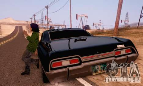 Chevrolet Impala 1967 Supernatural для GTA San Andreas вид изнутри