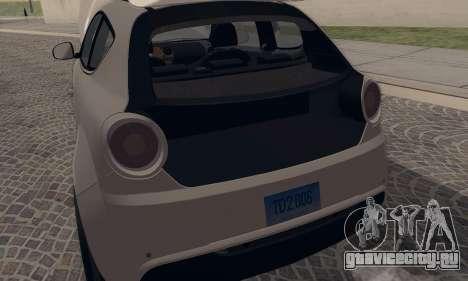 Afla Romeo Mito Quadrifoglio Verde для GTA San Andreas вид справа