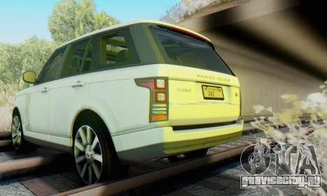 Range Rover Vogue 2014 V1.0 Interior Nero для GTA San Andreas вид изнутри