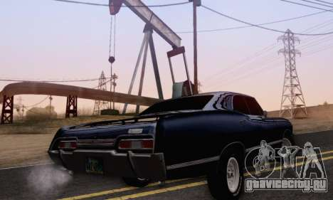 Chevrolet Impala 1967 Supernatural для GTA San Andreas вид слева