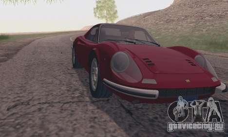 Ferrari Dino 246 GTS Coupe для GTA San Andreas вид сзади слева