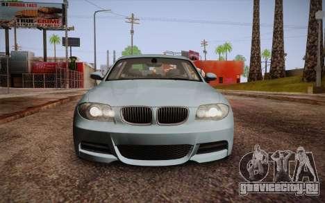 BMW 135i Limited Edition для GTA San Andreas вид сверху