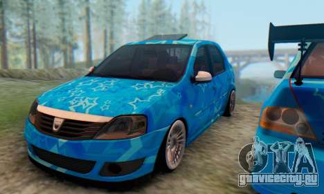 Dacia Logan Blue Star для GTA San Andreas вид изнутри