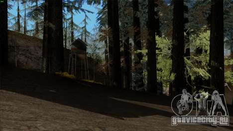 Густой лес v2 для GTA San Andreas второй скриншот