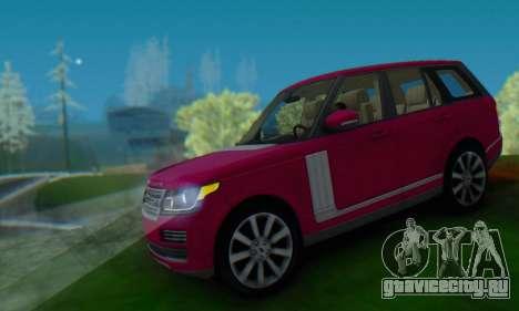 Range Rover Vogue 2014 V1.0 SA Plate для GTA San Andreas вид сзади