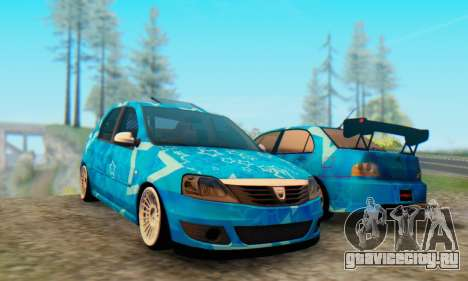 Dacia Logan Blue Star для GTA San Andreas вид слева