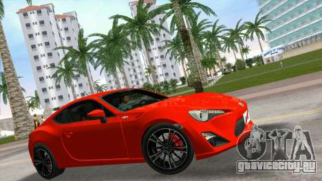 Toyota GT86 для GTA Vice City вид справа