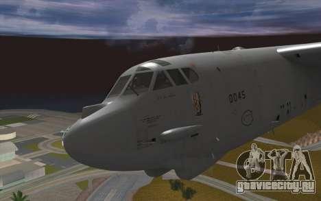 Boeing B-52H Stratofortress для GTA San Andreas вид сзади