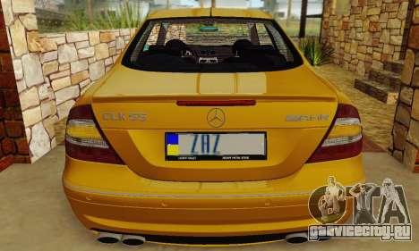Mercedes-Benz CLK55 AMG 2003 для GTA San Andreas вид сбоку