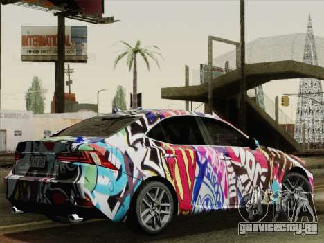 Lexus IS350 FSPORT Stikers Editions 2014 для GTA San Andreas вид слева