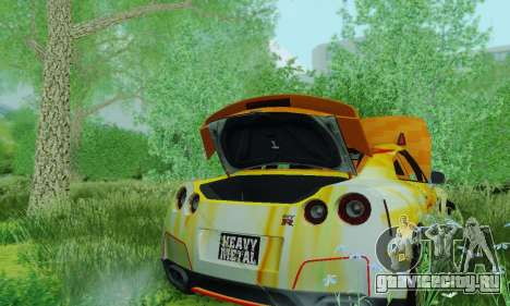 Nissan GTR Heavy Fire для GTA San Andreas вид сзади