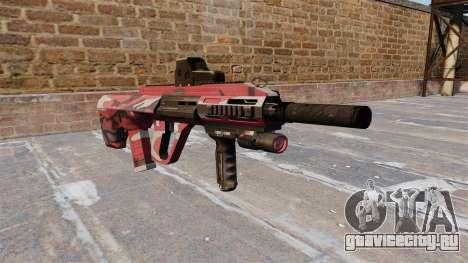 Автомат Steyr AUG-A3 Red urban для GTA 4