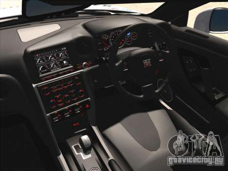 Nissan GTR-R35 Spec-V для GTA San Andreas вид изнутри