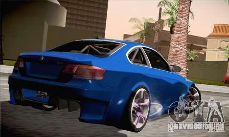BMW M3 E92 SHDru Tuning для GTA San Andreas вид слева