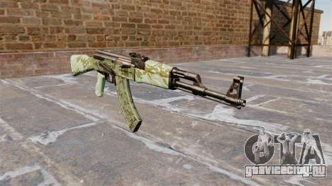 Автомат АК-47 Green camo для GTA 4