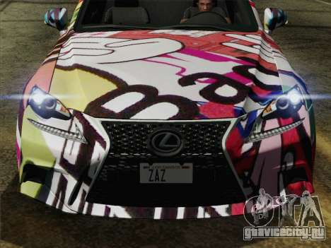 Lexus IS350 FSPORT Stikers Editions 2014 для GTA San Andreas вид справа
