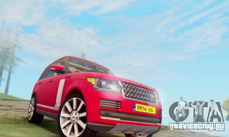Range Rover Vogue 2014 V1.0 UK Plate для GTA San Andreas