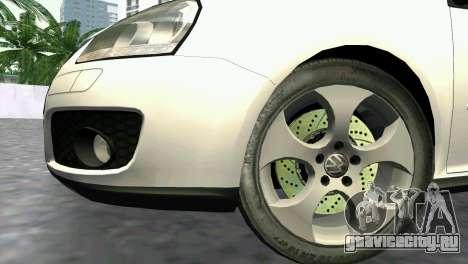Volkswagen Golf V GTI для GTA Vice City вид справа