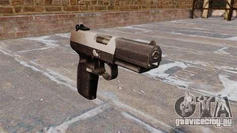 Пистолет FN Five-seveN Chrome для GTA 4