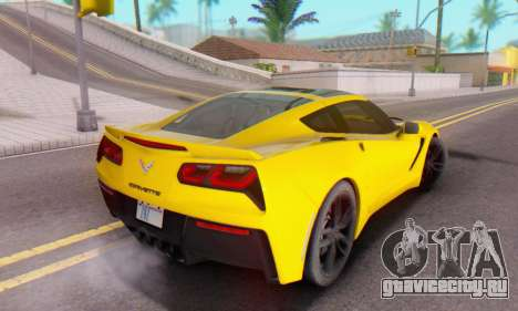 Chevrolet Corvette Stingray C7 2014 для GTA San Andreas вид сверху