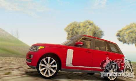 Range Rover Vogue 2014 V1.0 UK Plate для GTA San Andreas вид справа