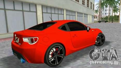 Toyota GT86 для GTA Vice City вид слева