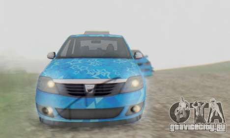 Dacia Logan Blue Star для GTA San Andreas вид сверху