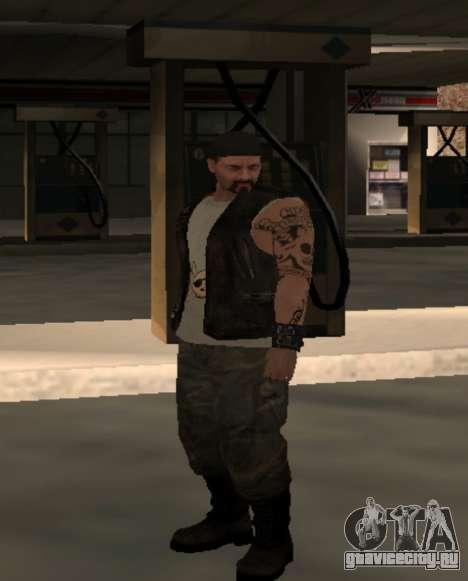 Байкер из клуба Roads Angels для GTA San Andreas четвёртый скриншот