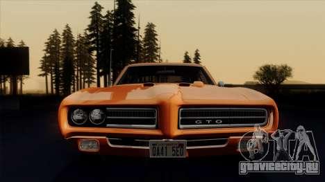 Pontiac GTO The Judge Hardtop Coupe 1969 для GTA San Andreas вид сбоку