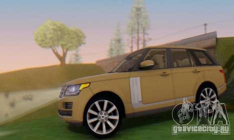 Range Rover Vogue 2014 V1.0 SA Plate для GTA San Andreas вид слева