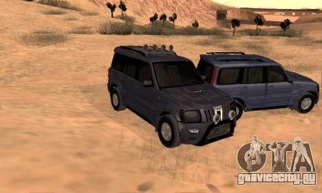 Mahindra Scorpio для GTA San Andreas салон