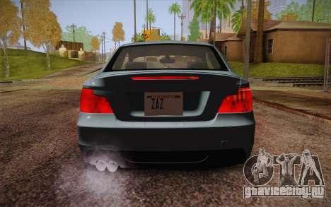 BMW 135i Limited Edition для GTA San Andreas вид снизу