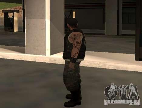 Байкер из клуба Roads Angels для GTA San Andreas второй скриншот