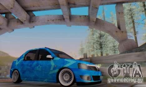 Dacia Logan Blue Star для GTA San Andreas салон