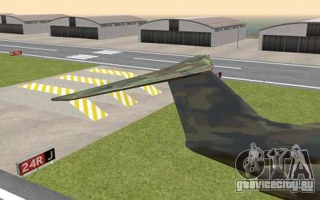 Camouflage Shamal для GTA San Andreas вид сзади слева