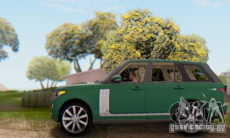 Range Rover Vogue 2014 V1.0 UK Plate для GTA San Andreas вид сверху