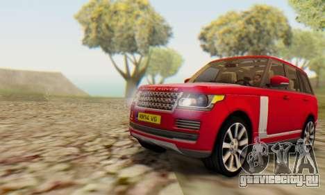 Range Rover Vogue 2014 V1.0 UK Plate для GTA San Andreas вид сзади слева