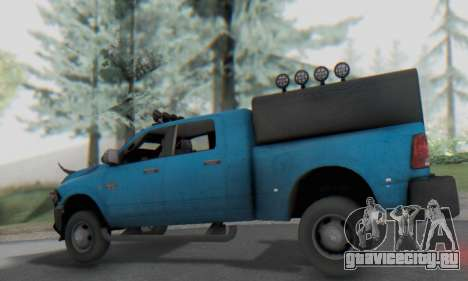 Dodge Ram 3500 Super Reforzada для GTA San Andreas вид сзади