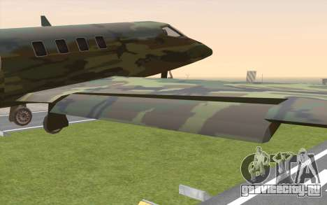 Camouflage Shamal для GTA San Andreas вид справа